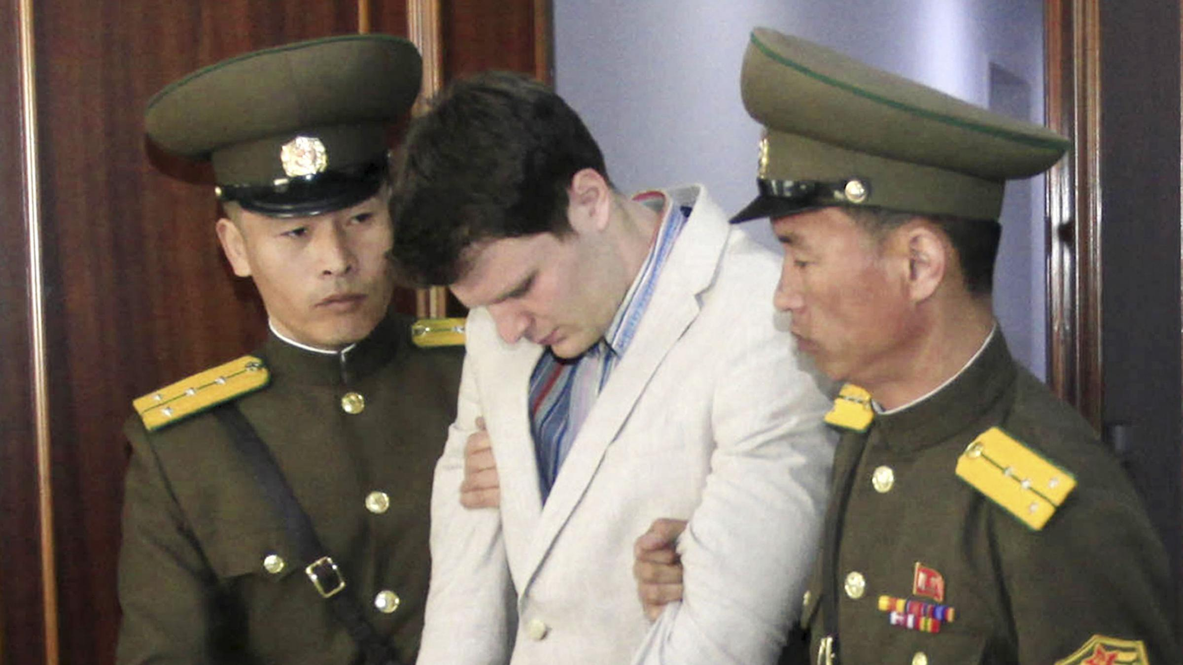 U.S. student, freed from North Korea with neurological injury, was 'brutalized' -father